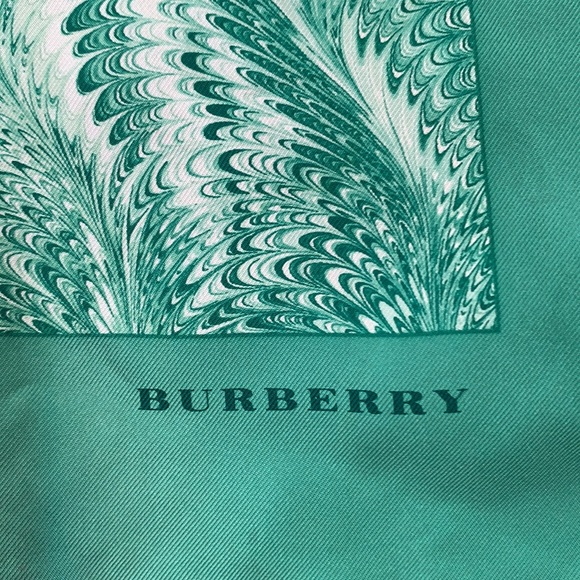 100% silk vintage Burberry scarf.